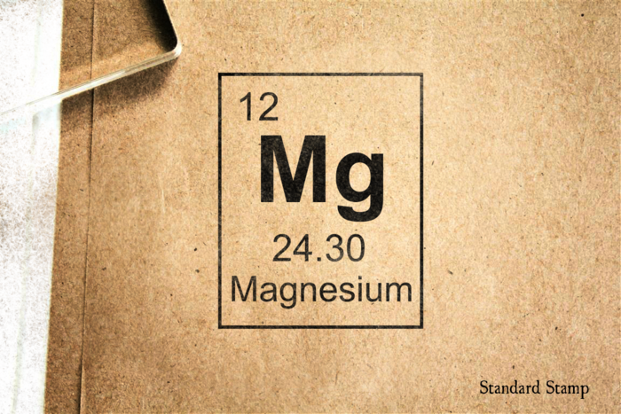 Magnesium periodic table rubber stamp standard stamp magnesium periodic table rubber stamp urtaz Image collections