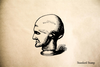 Man head Rubber Stamp
