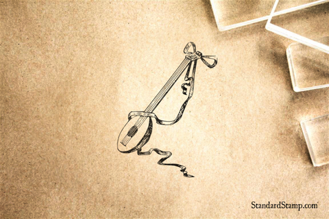 Mandolin Rubber Stamp