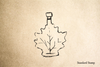 Maple Syrup Rubber Stamp