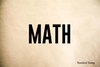 Math Rubber Stamp