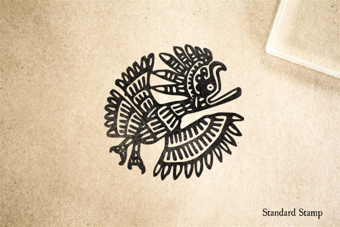 Mayan Eagle Art Rubber Stamp