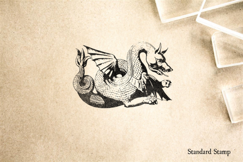 Medieval Dragon Rubber Stamp