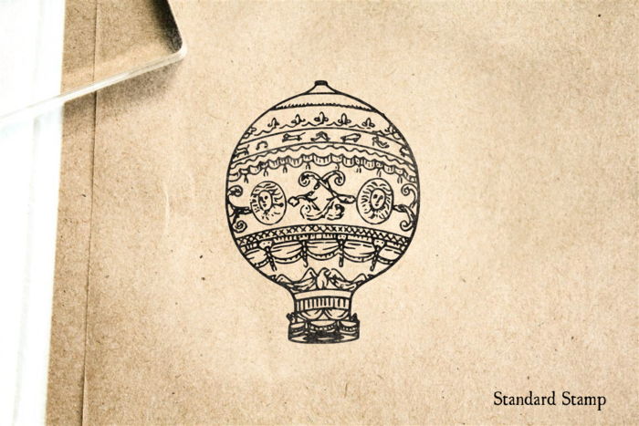 Montgolfier Hot Air Balloon Rubber Stamp