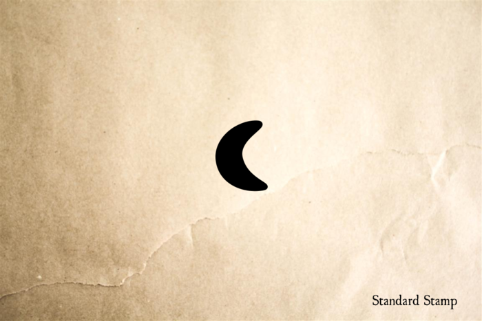 Small Crescent Moon Rubber Stamp