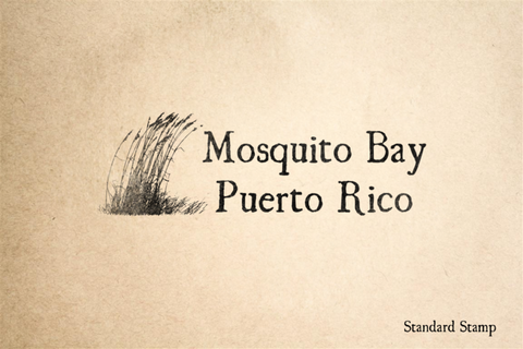 Mosquito Bay Puerto Rico Rubber Stamp