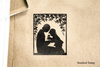 Mother and Child Silhouette Rubber Stamp