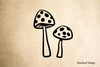 Spotted Mushrooms Rubber Stamp