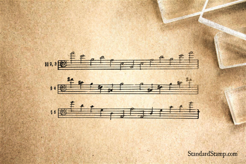 Music Notes Rubber Stamp