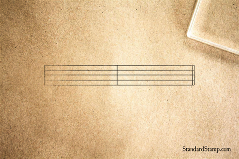 Music Staff Rubber Stamp