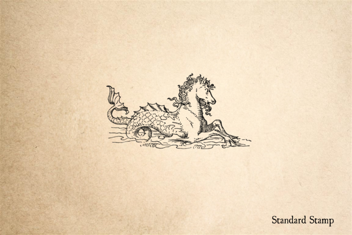 Mythical Sea Horse Rubber Stamp