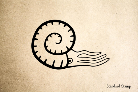 Nautilus Cartoon Rubber Stamp