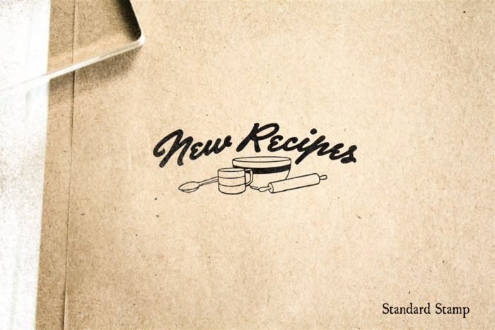 New Recipes Rubber Stamp