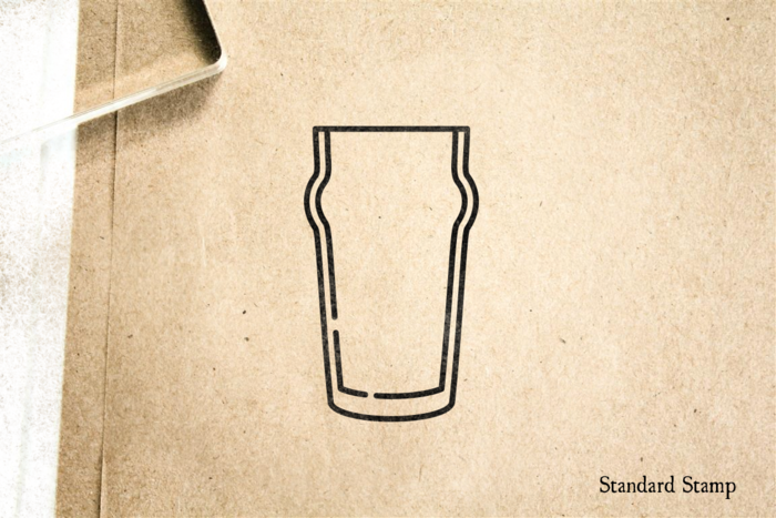 Nonic Beer Glass Rubber Stamp