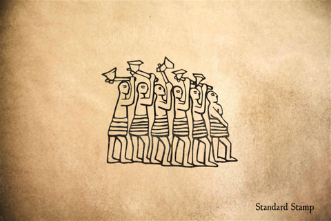 Nordic Axe Warriors Rubber Stamp