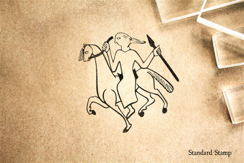 Norse Spear Maiden Rubber Stamp