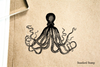 Octopus Realistic Rubber Stamp
