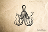 Octopus #2 Rubber Stamp