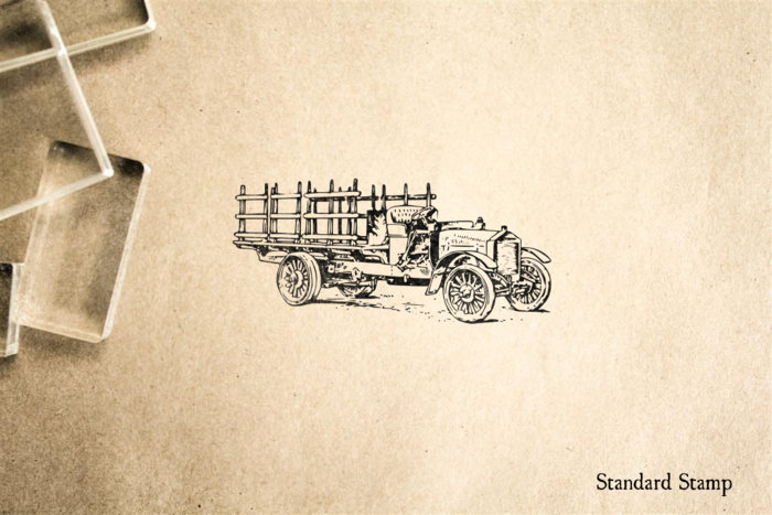 Old Heavy Truck Rubber Stamp