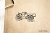 Old Light Truck Rubber Stamp