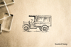 Old Medium Truck Rubber Stamp