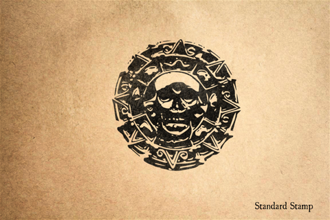 Old Skull Doubloon Rubber Stamp