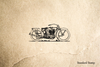 Old Style Motorcycle Rubber Stamp