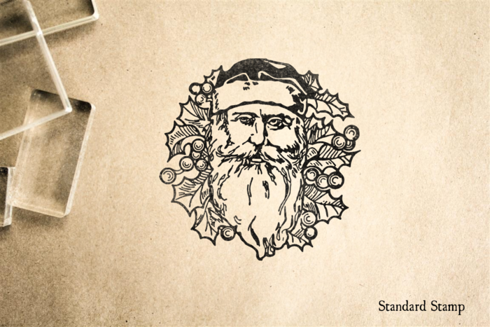 Old World Santa Face Rubber Stamp