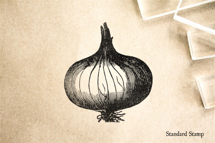 Onion Rubber Stamp