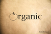 Organic with Tomato Rubber Stamp