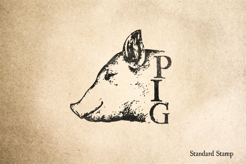PIG Head Rubber Stamp