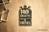 Pack Lighter Go Further Rubber Stamp