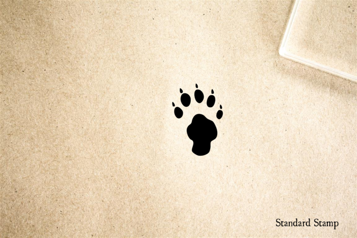 Paw Print 1 Rubber Stamp