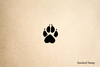Paw Print 6 Rubber Stamp