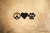 Peace Love Puppy Rubber Stamp