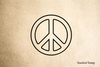 Peace Symbol Rubber Stamp