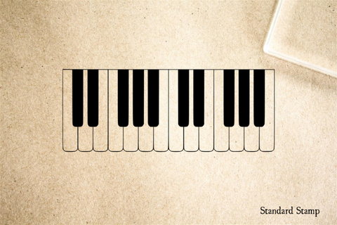 Piano Keys Rubber Stamp