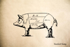Pig Rubber Stamp