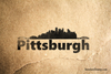 Pittsburgh Skyline Rubber Stamp