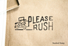 Please Rush Rubber Stamp