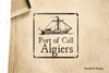 Port of Algiers Rubber Stamp