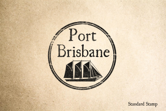 Port of Brisbane Rubber Stamp