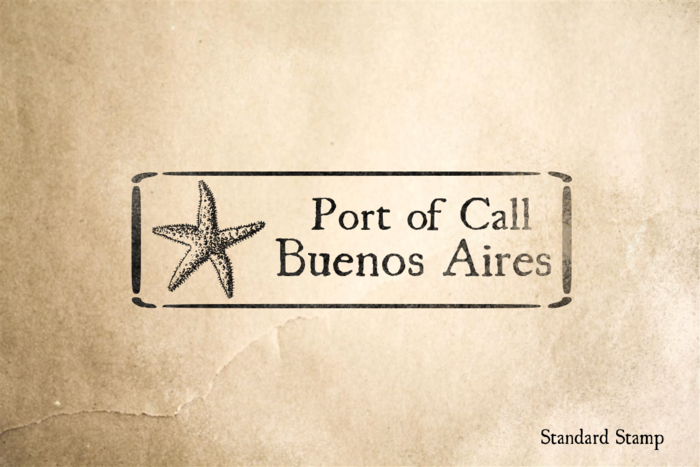 Port of Buenos Aries Rubber Stamp