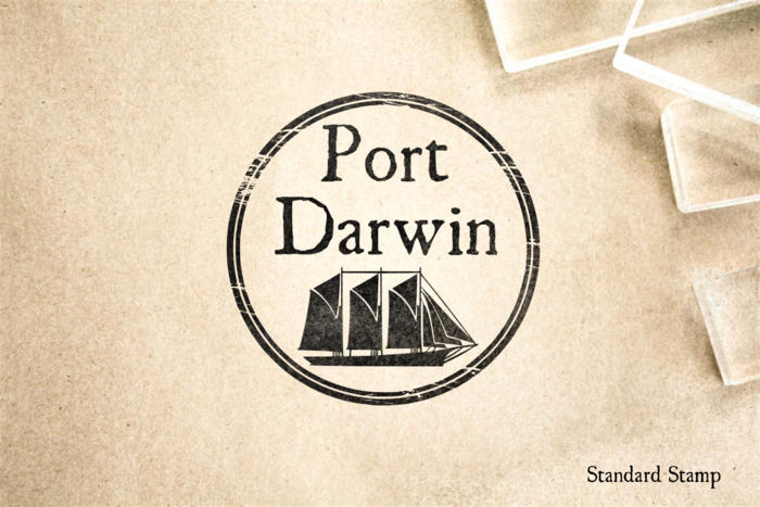 Port of Darwin Rubber Stamp