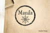 Port of Manila Rubber Stamp