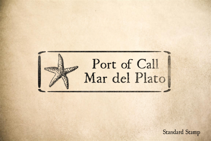 Port of Mar del Plato Rubber Stamp