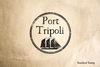 Port of Tripoli Rubber Stamp
