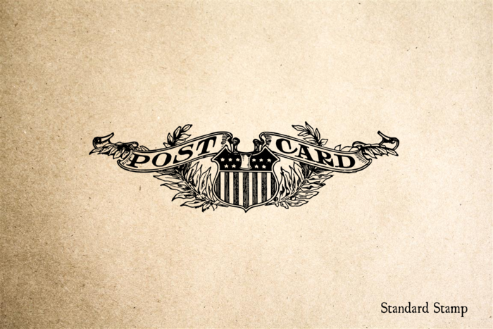 Post Card Rubber Stamp