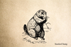 Prarie Dog Rubber Stamp