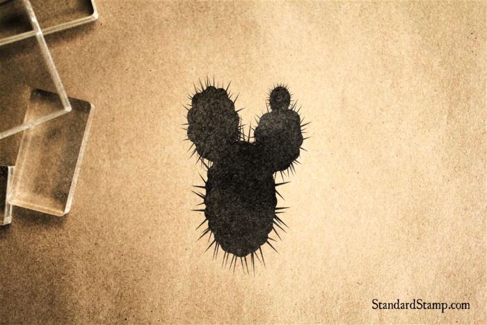 Prickly Cactus Rubber Stamp Enlarge Image